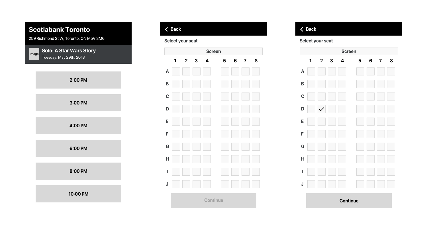 Visual Design Challenge WIreframes